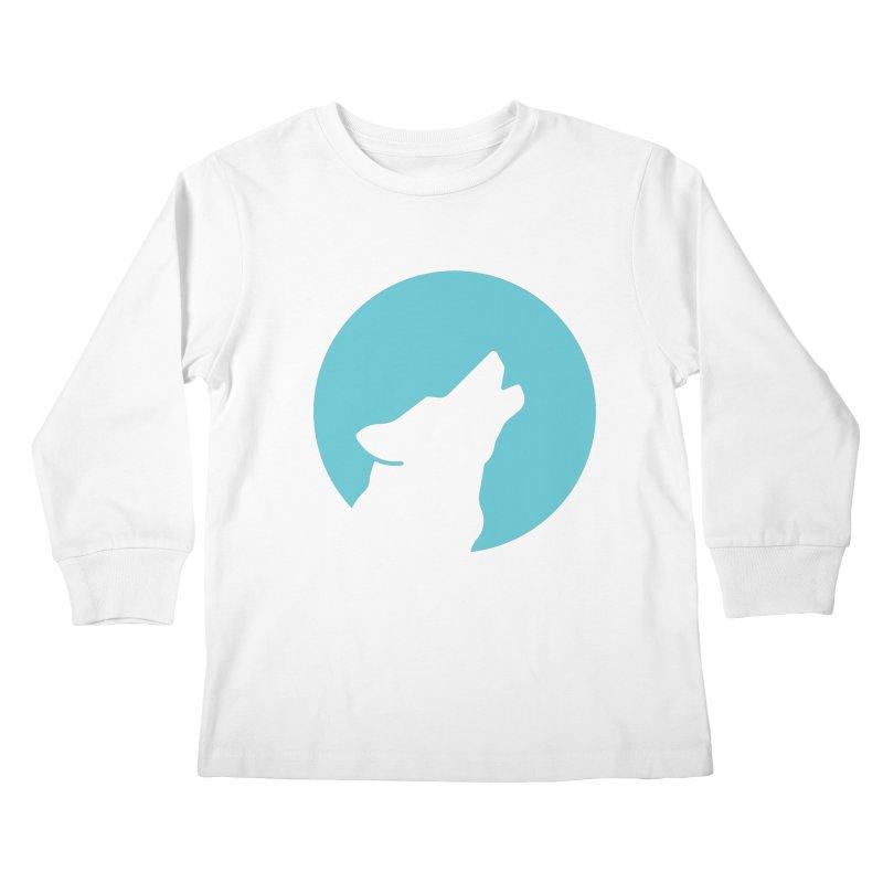 Howling Wolf Kids Longsleeve T-Shirt by BMaw's Artist Shop