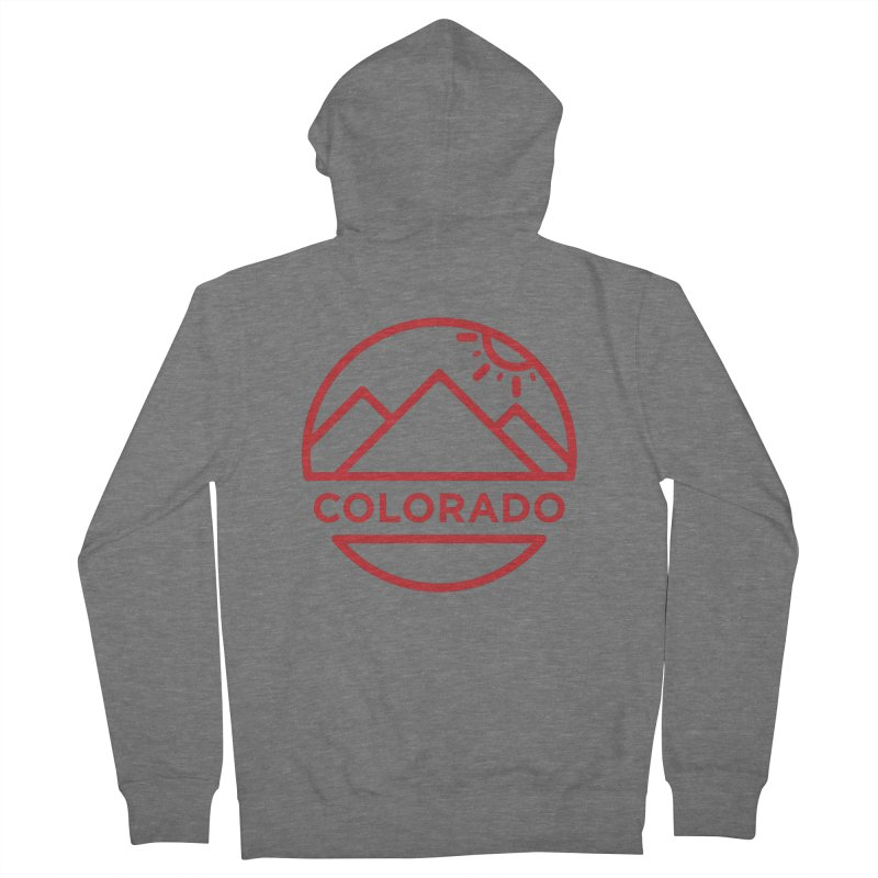 Explore Colorado Men's French Terry Zip-Up Hoody by BMaw's Artist Shop