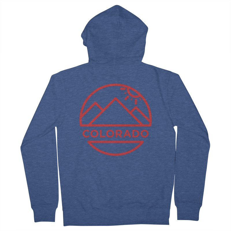 Explore Colorado Men's Zip-Up Hoody by BMaw's Artist Shop