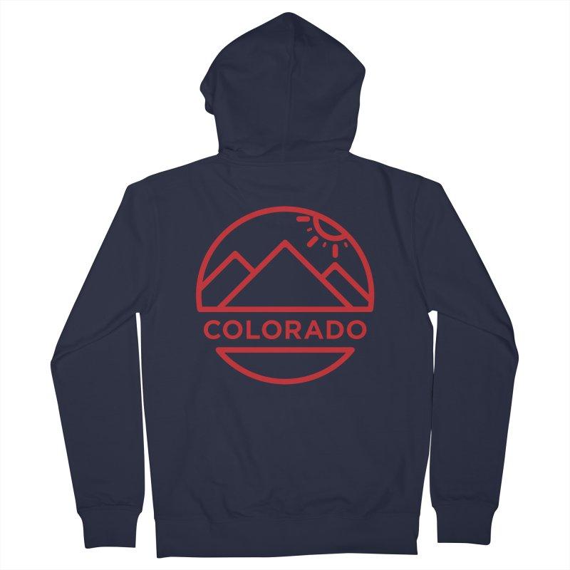 Explore Colorado Men's Zip-Up Hoody by BMaw's Artist Shop