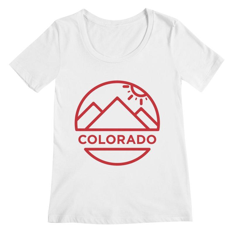 Explore Colorado Women's Regular Scoop Neck by BMaw's Artist Shop