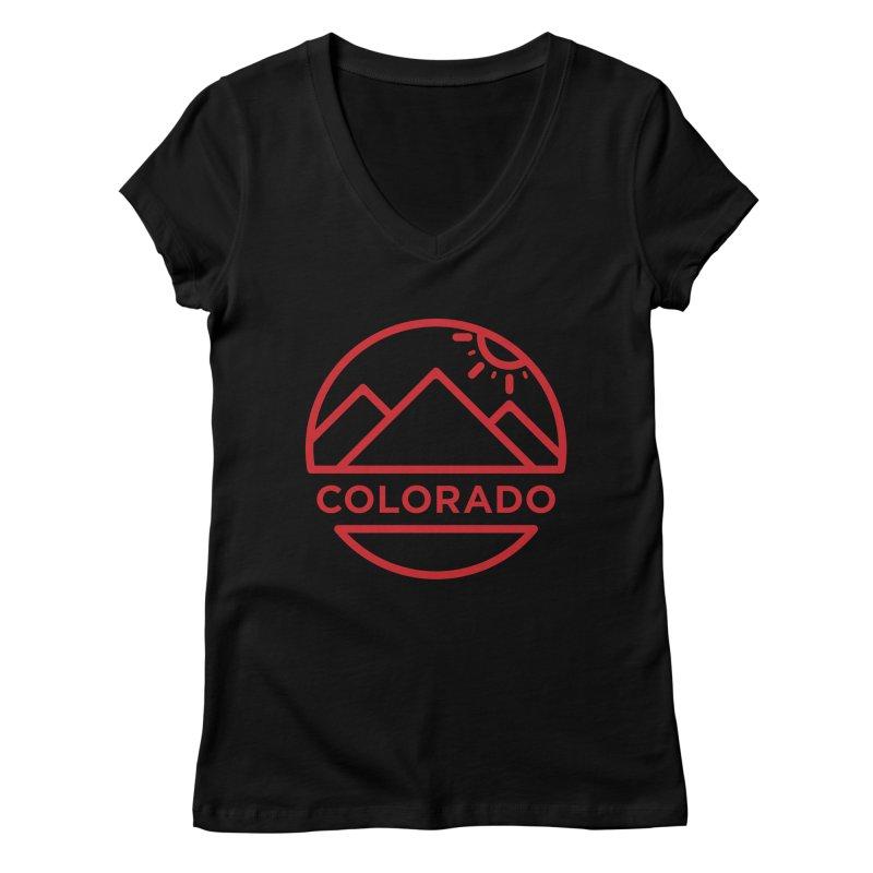 Explore Colorado Women's V-Neck by BMaw's Artist Shop