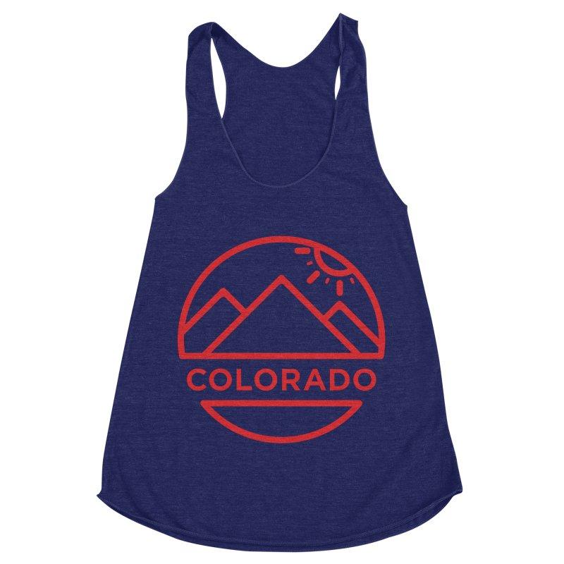 Explore Colorado Women's Racerback Triblend Tank by BMaw's Artist Shop