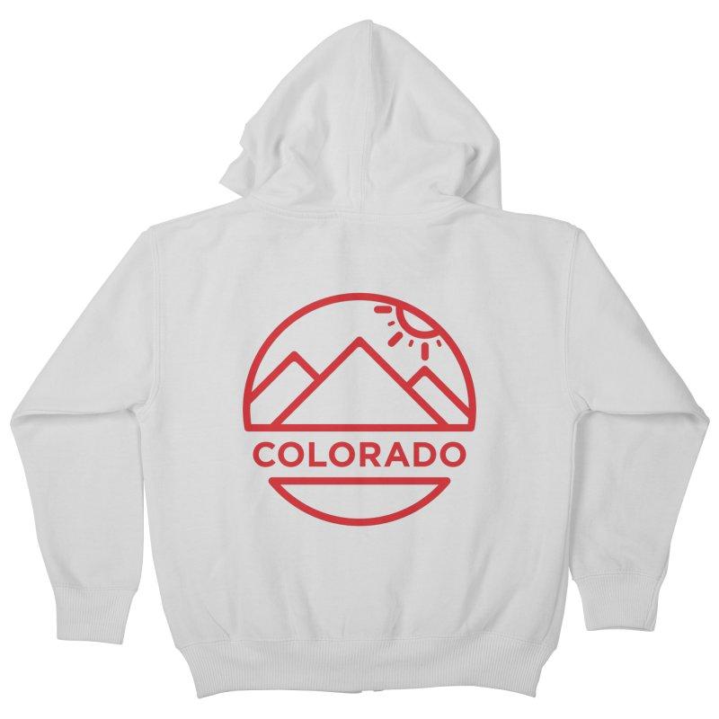 Explore Colorado Kids Zip-Up Hoody by BMaw's Artist Shop