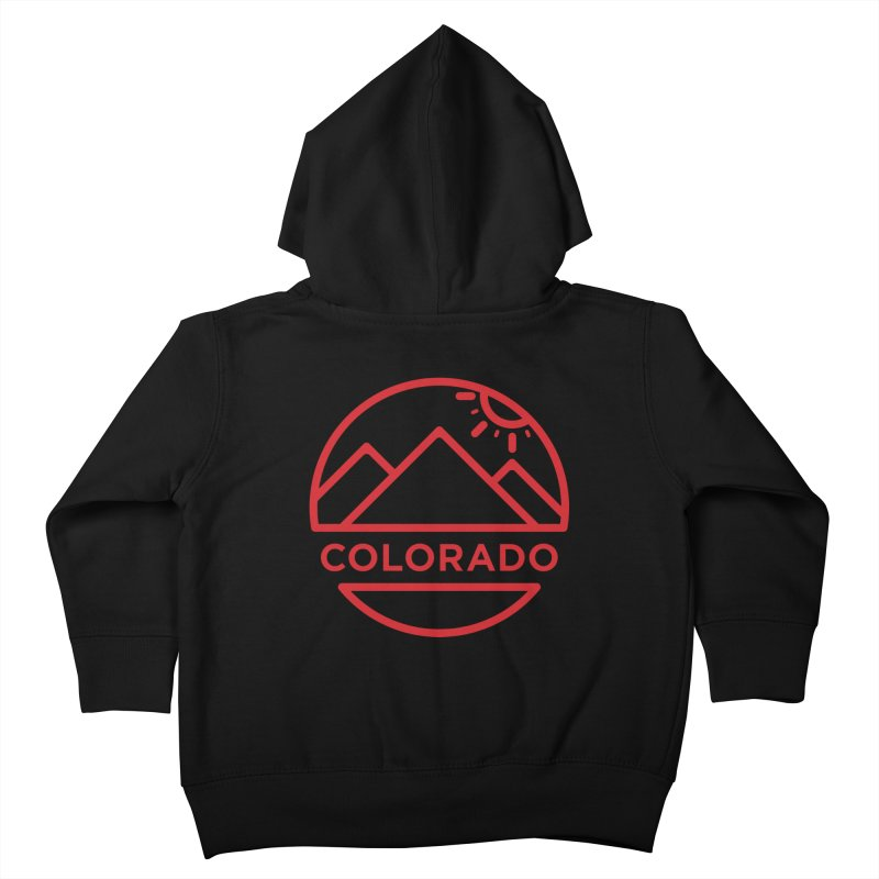 Explore Colorado Kids Toddler Zip-Up Hoody by BMaw's Artist Shop