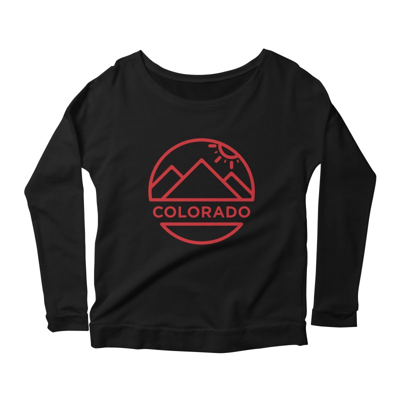 Explore Colorado Women's Scoop Neck Longsleeve T-Shirt by BMaw's Artist Shop