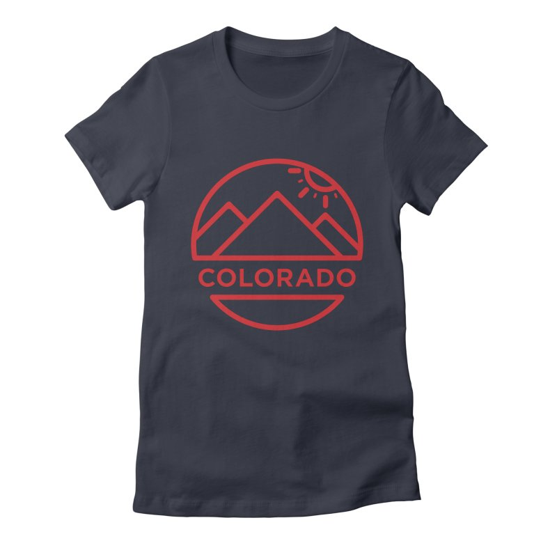 Explore Colorado Women's Fitted T-Shirt by BMaw's Artist Shop