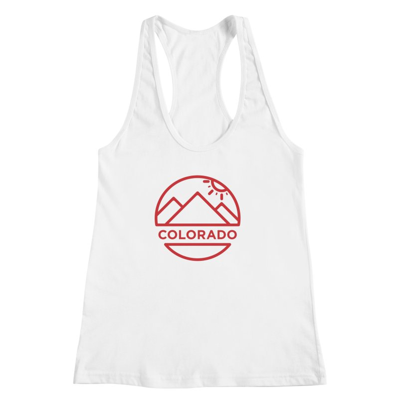 Explore Colorado Women's Racerback Tank by BMaw's Artist Shop