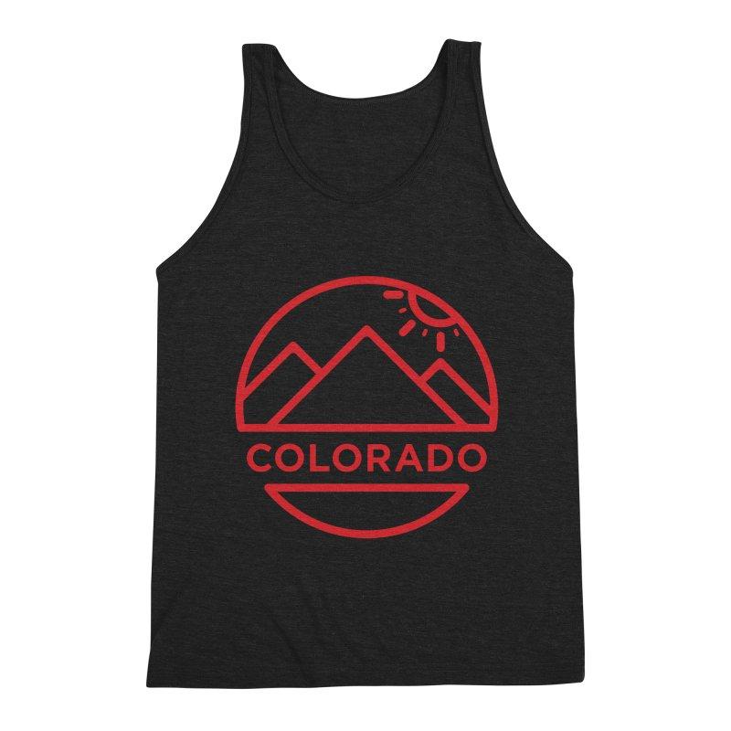 Explore Colorado Men's Triblend Tank by BMaw's Artist Shop