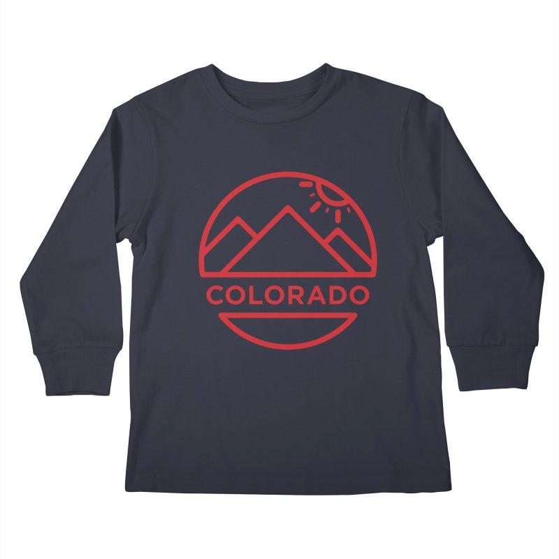 Explore Colorado Kids Longsleeve T-Shirt by BMaw's Artist Shop