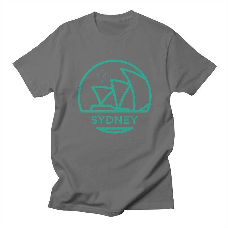Sydney Harbor Men's T-Shirt by BMaw's Artist Shop