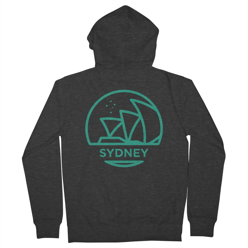 Sydney Harbor Women's French Terry Zip-Up Hoody by BMaw's Artist Shop