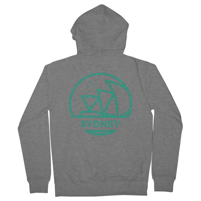 Sydney Harbor Men's French Terry Zip-Up Hoody by BMaw's Artist Shop