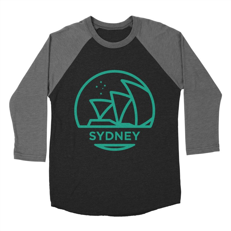 Sydney Harbor Men's Baseball Triblend T-Shirt by BMaw's Artist Shop