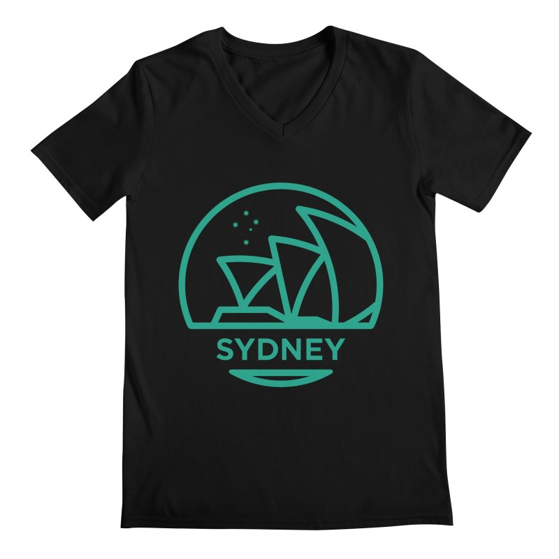 Sydney Harbor Men's V-Neck by BMaw's Artist Shop