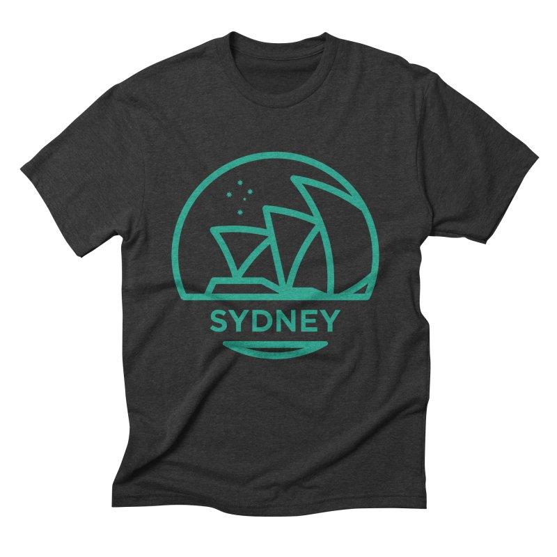 Sydney Harbor Men's Triblend T-shirt by BMaw's Artist Shop
