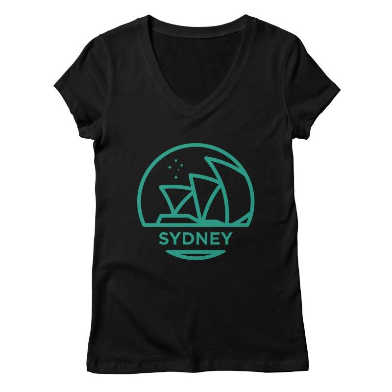 Sydney Harbor Women's V-Neck by BMaw's Artist Shop