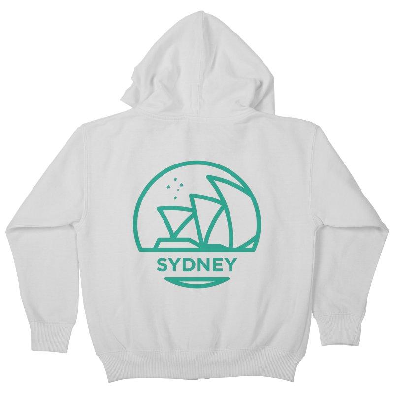 Sydney Harbor Kids Zip-Up Hoody by BMaw's Artist Shop