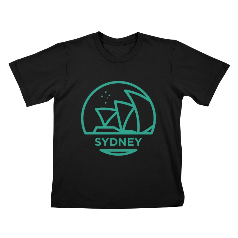 Sydney Harbor Kids T-Shirt by BMaw's Artist Shop