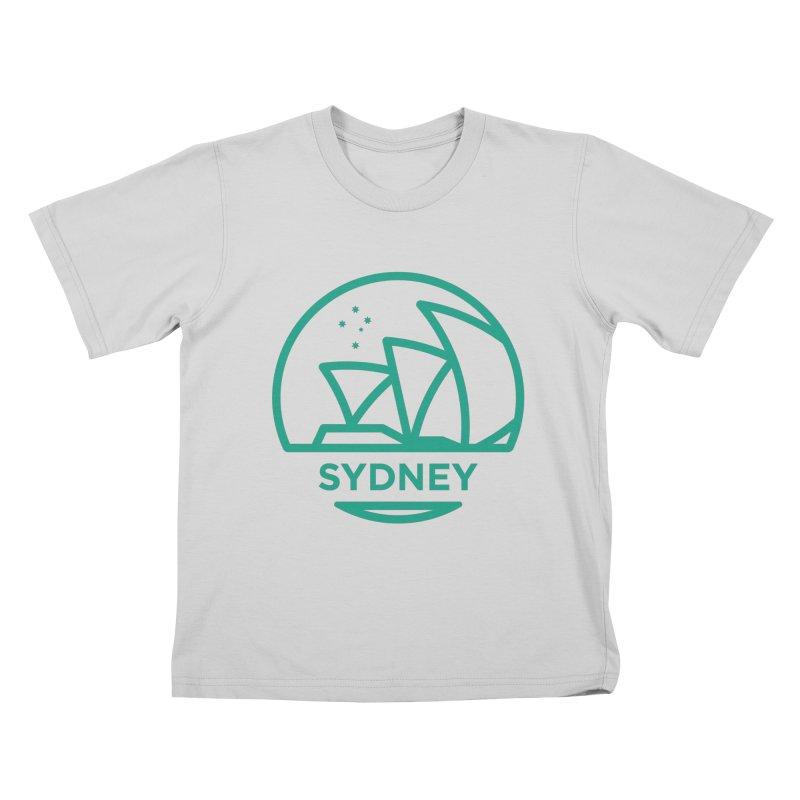 Sydney Harbor Kids T-Shirt by BMaw's Artist Shop