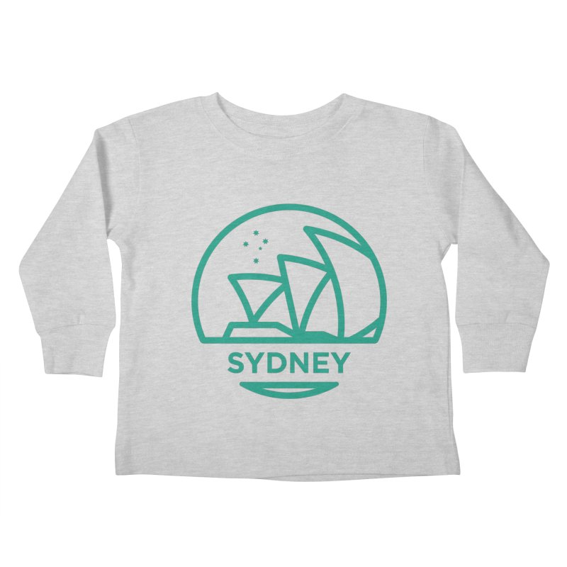 Sydney Harbor Kids Toddler Longsleeve T-Shirt by BMaw's Artist Shop