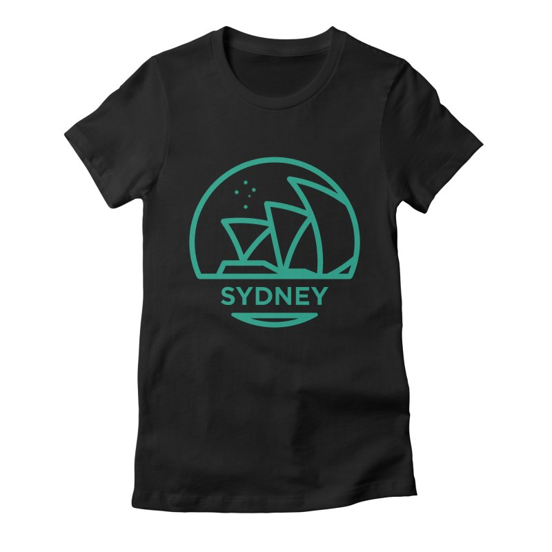 Sydney Harbor Women's Fitted T-Shirt by BMaw's Artist Shop