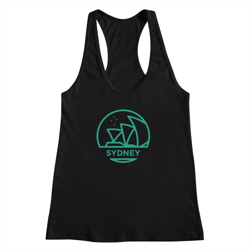 Sydney Harbor Women's Racerback Tank by BMaw's Artist Shop