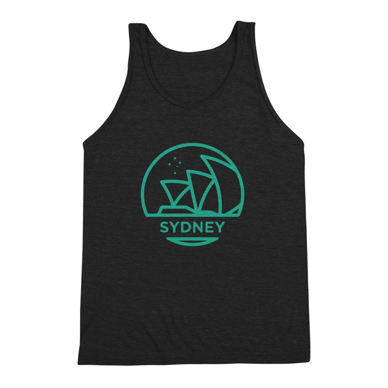 Sydney Harbor Men's Triblend Tank by BMaw's Artist Shop