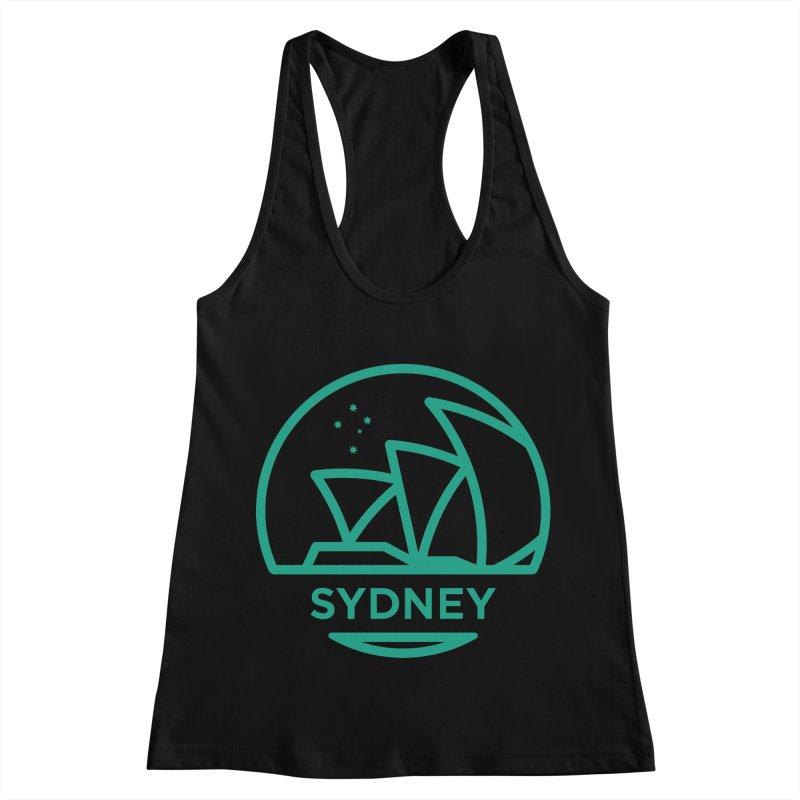 Sydney Harbor Women's Racerback Tank by BMaw's Artist Shop