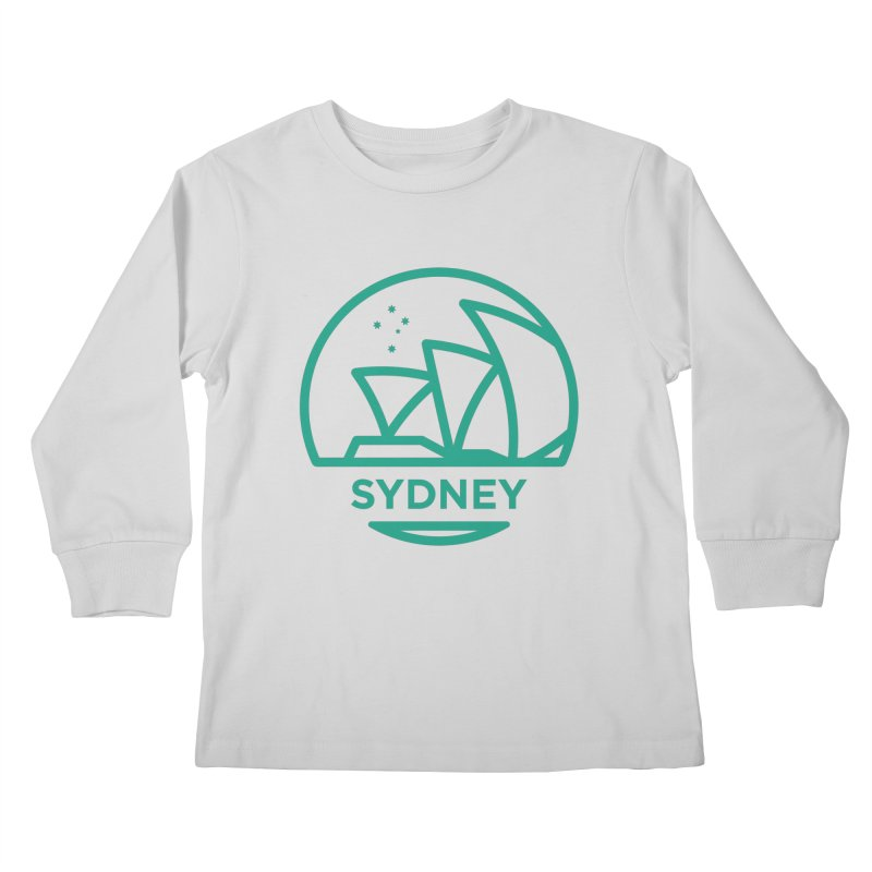 Sydney Harbor Kids Longsleeve T-Shirt by BMaw's Artist Shop