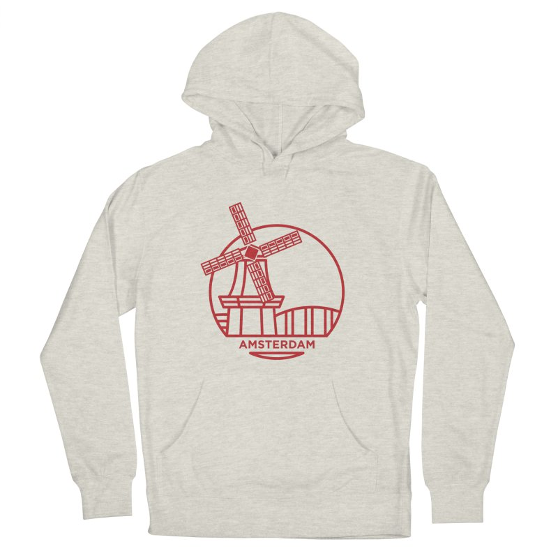 Amsterdam Mill Men's French Terry Pullover Hoody by BMaw's Artist Shop
