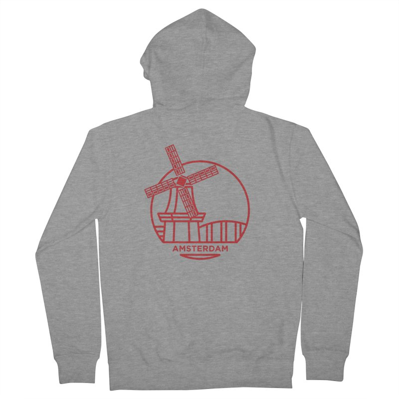 Amsterdam Mill Men's French Terry Zip-Up Hoody by BMaw's Artist Shop