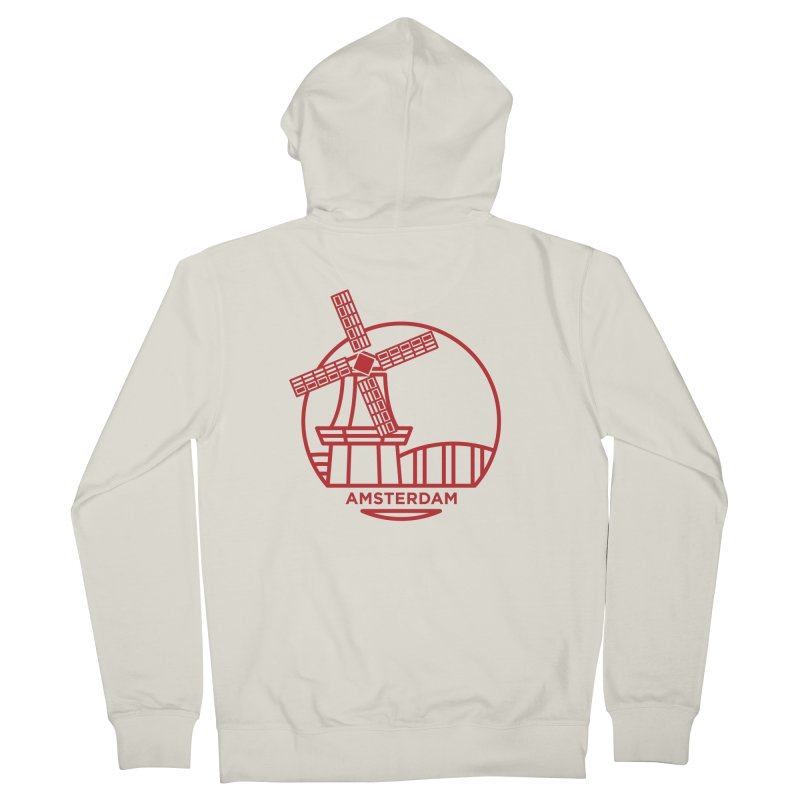 Amsterdam Mill Men's Zip-Up Hoody by BMaw's Artist Shop