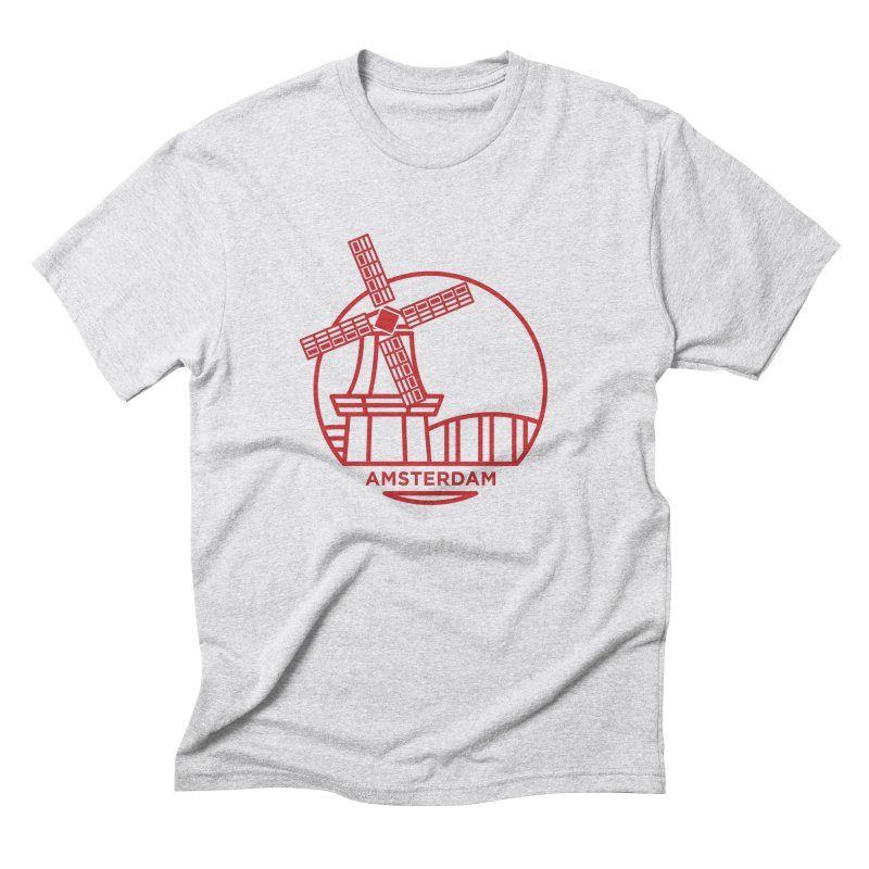 Amsterdam Mill Men's Triblend T-Shirt by BMaw's Artist Shop