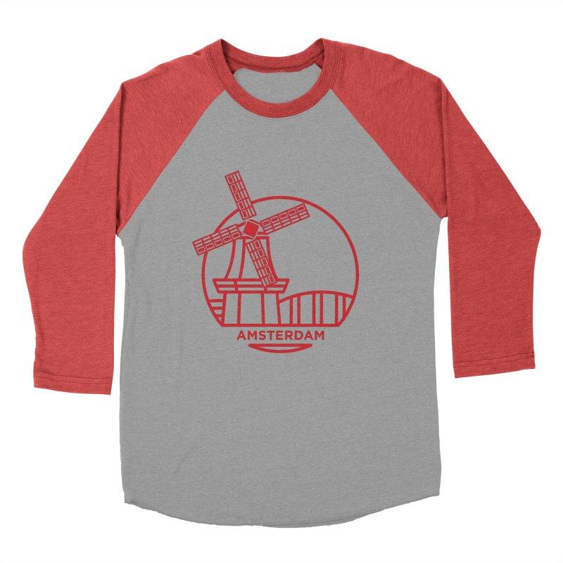 Amsterdam Mill Women's Baseball Triblend Longsleeve T-Shirt by BMaw's Artist Shop