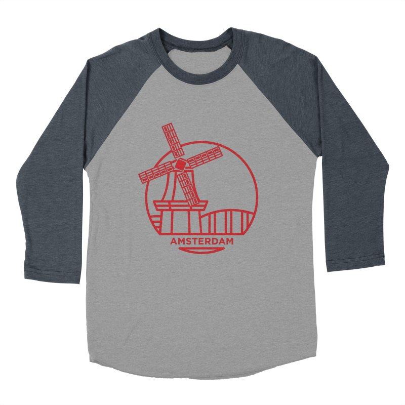 Amsterdam Mill Men's Baseball Triblend Longsleeve T-Shirt by BMaw's Artist Shop