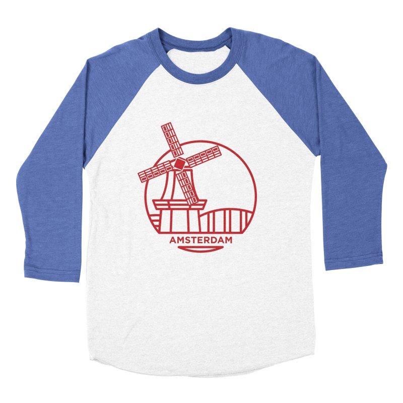 Amsterdam Mill Men's Baseball Triblend T-Shirt by BMaw's Artist Shop