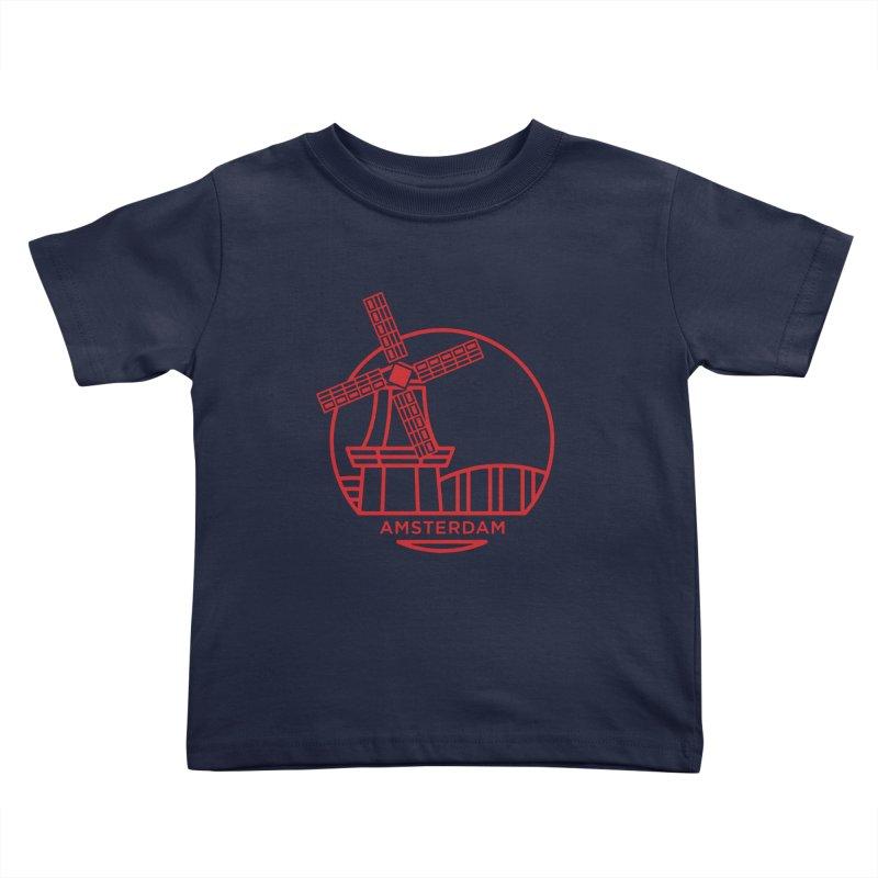 Amsterdam Mill Kids Toddler T-Shirt by BMaw's Artist Shop
