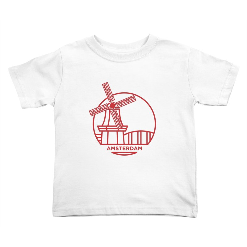 Amsterdam Mill Kids Toddler T-Shirt by BMaw's Artist Shop