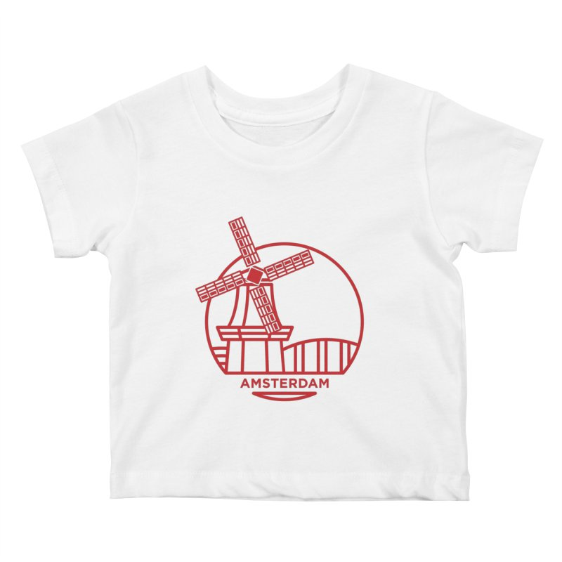 Amsterdam Mill Kids Baby T-Shirt by BMaw's Artist Shop