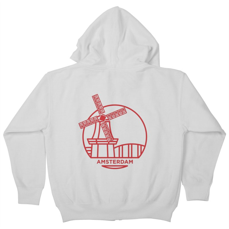 Amsterdam Mill Kids Zip-Up Hoody by BMaw's Artist Shop