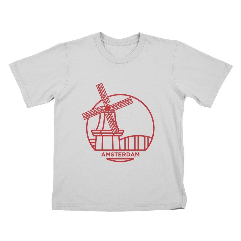 Amsterdam Mill Kids T-Shirt by BMaw's Artist Shop