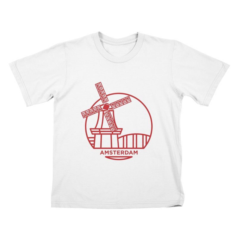 Amsterdam Mill Kids T-Shirt by BMaw's Artist Shop