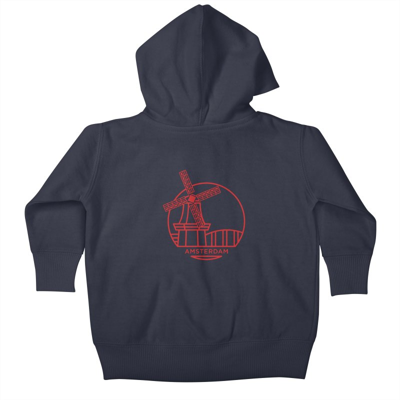 Amsterdam Mill Kids Baby Zip-Up Hoody by BMaw's Artist Shop