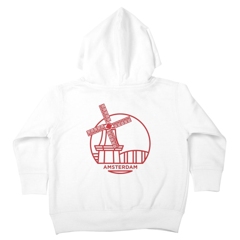 Amsterdam Mill Kids Toddler Zip-Up Hoody by BMaw's Artist Shop