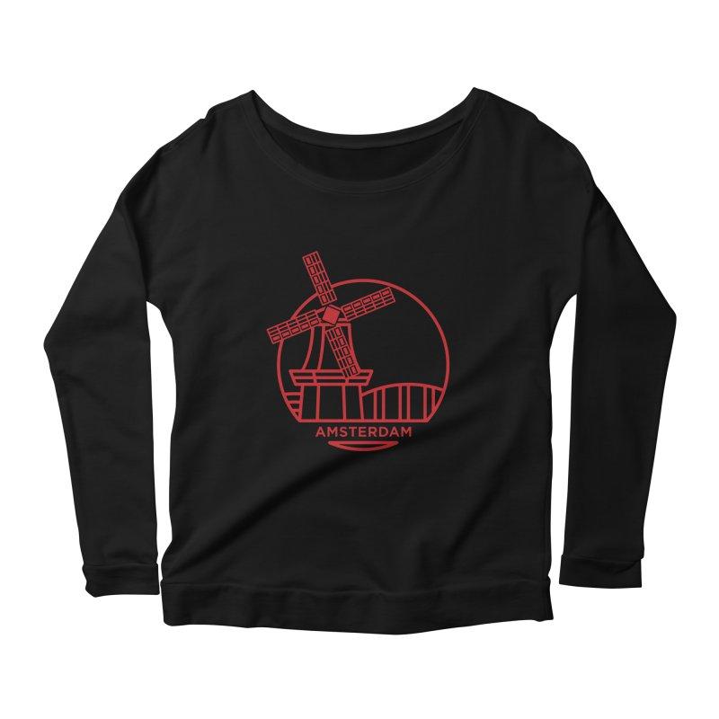 Amsterdam Mill Women's Scoop Neck Longsleeve T-Shirt by BMaw's Artist Shop