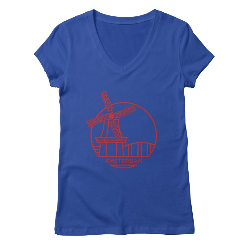 Amsterdam Mill Women's V-Neck by BMaw's Artist Shop