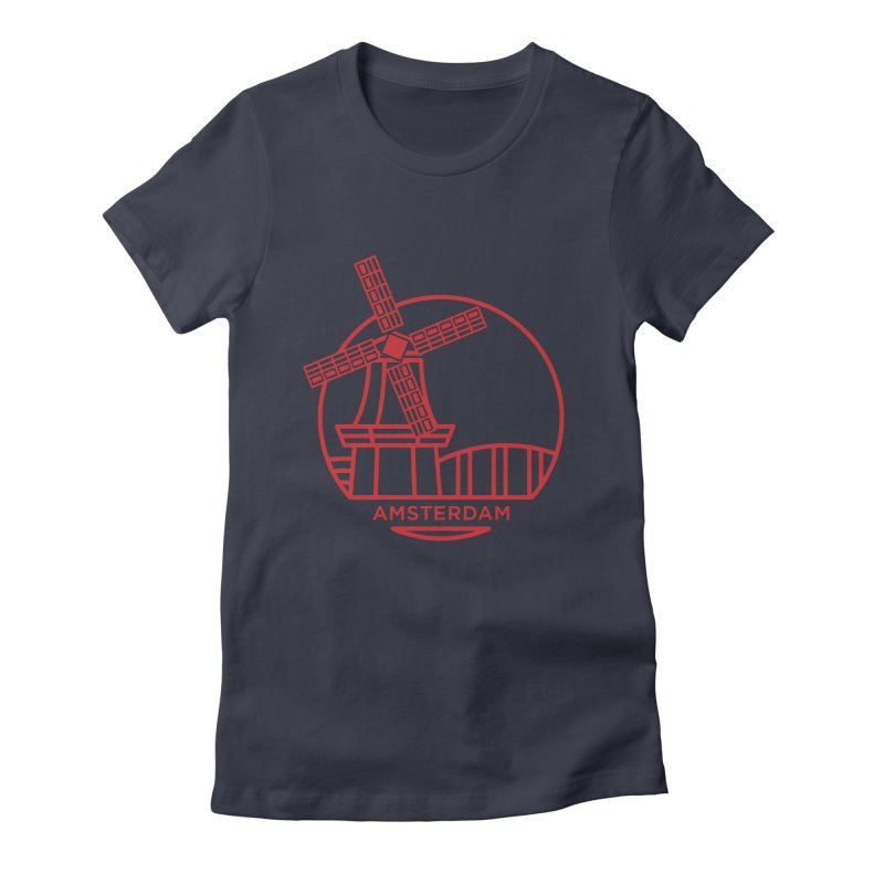Amsterdam Mill Women's Fitted T-Shirt by BMaw's Artist Shop