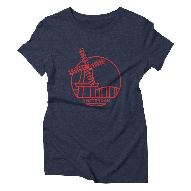 Amsterdam Mill Women's Triblend T-Shirt by BMaw's Artist Shop