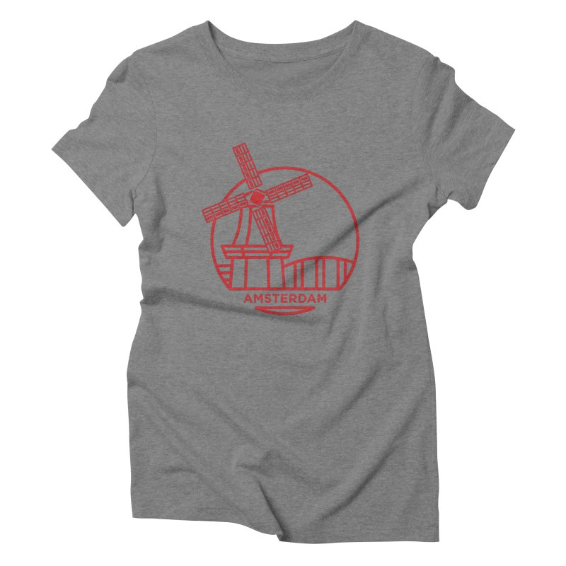 Amsterdam Mill Women's Triblend T-Shirt by BMaw's Artist Shop